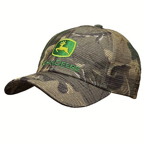 John Deere Reflective Mesh Camo Hat with Embroidered Logo