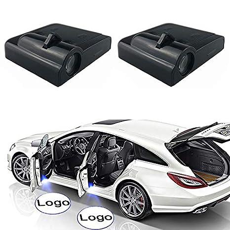 NO LOGO XFC-TYY 2pcs inal/ámbrica Puerta de Coche LED de luz del proyector Bienvenido Sombra del Fantasma de la l/ámpara for Volkswagen for Audi for Honda for Nissan Kia Emitting Color : For Audi