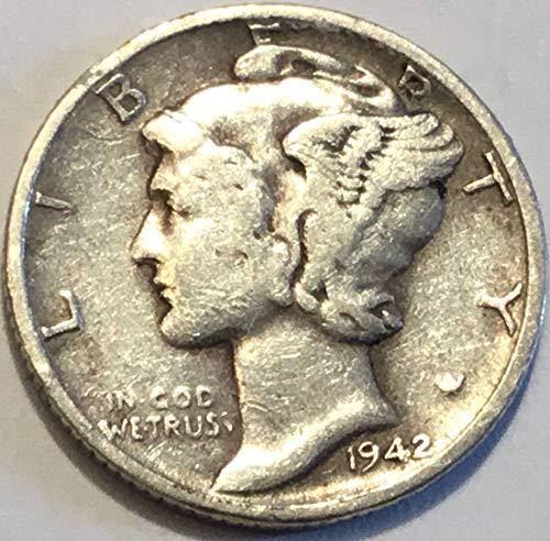 - 1942 D Mercury Dime Dime Very Fine Detials