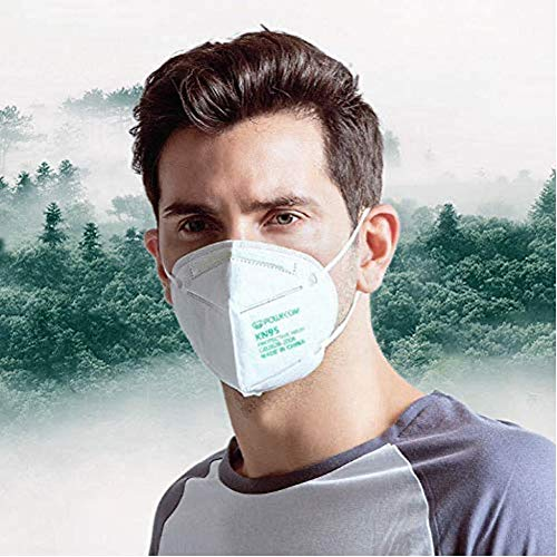 Powecom KN95 Face Mask on FDA List, 10 Pack Disposable Masks, Protection Against PM2.5 from Fire Smoke, Dust for Adults, Men, Women, Essential Workers - 10 Pcs