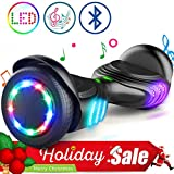 """TOMOLOO Self-Balancing Scooter UL2272 Certified 6.5"""" Wheel Hoverboard with RGB Lights Bluetooth Speaker …"""