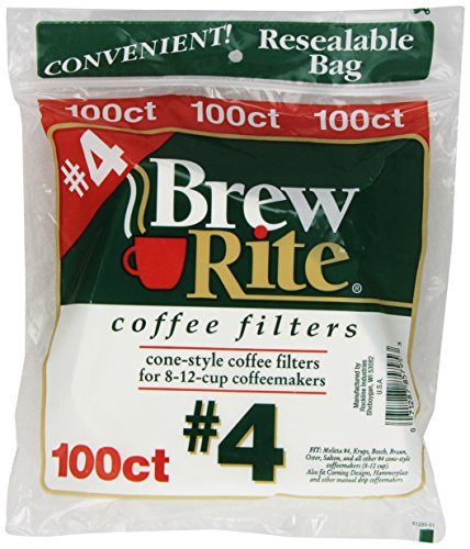 Brew Rite Coffee Filters 100 Count