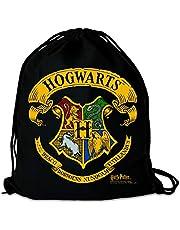LOGOSHIRT - Harry Potter - Zweinstein - Logo - Gymtas - Sporttas - zwart - Gelicentieerd origineel ontwerp