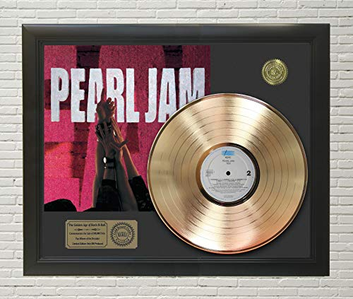 Pearl Jam Ten Framed Gold LP Display C3 ()