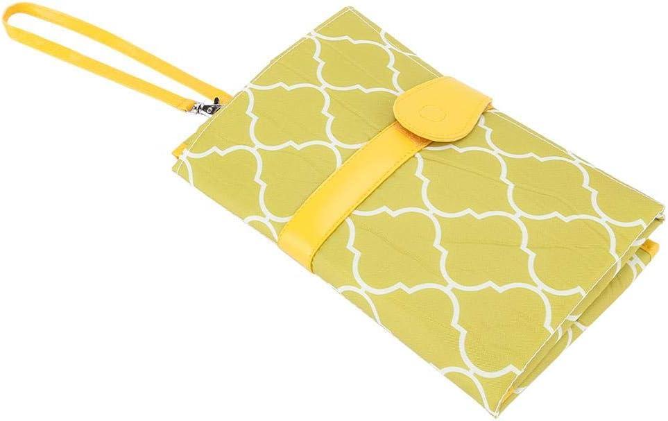 grand tapis pour b/éb/é portable Cyan Vert couche-culotte Furnoor Tapis de matelas /à langer lavable et imperm/éable