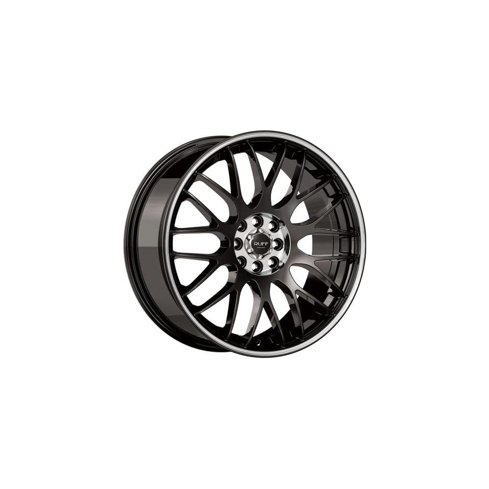 Ruff R355 18 Black Wheel / Rim 4x100 & 4x4.25 with a 40mm Offset and a 73.1 Hub Bore. Partnumber R355HK4BC40O7M