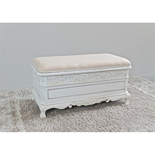 Wood Carved Trunk - International Caravan 3957-AW-IC Furniture Piece Carved Wood Trunk/Bench