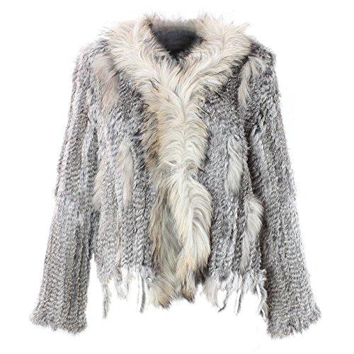 Veste pour femme en fourrure manteau veste en fourrure de lapin fourrure de lapin diffrentes couleurs nr 2 Gris