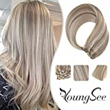 Best Clip In Hair Extensions - Youngsee 12inch Clip in Hair Extensions Blonde Human Review
