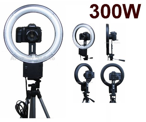 Camera 300W Macro, Portrait Ring Light for Olympus PEN E-PL1, E-P2, E-P1, Evolt E620, E520, E420, E30, E-3, E410, E510, E500, E600, E330, E300 Evolt-E1