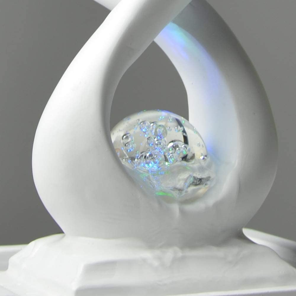 colore: Nero ZenLight SCFR19-C8 14 x 14 x 31 cm Fontana interna in poliresina