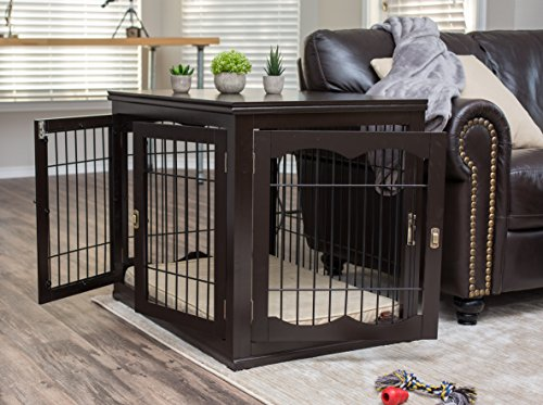 Internetu0027s Best Decorative Dog Kennel With Pet Bed | Double Door | Wooden  Wire Dog House