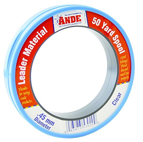 (Ande FCW50-25 Fluorocarbon Leader Material, 50-Yard Spool, 25-Pound Test, Clear Finish)