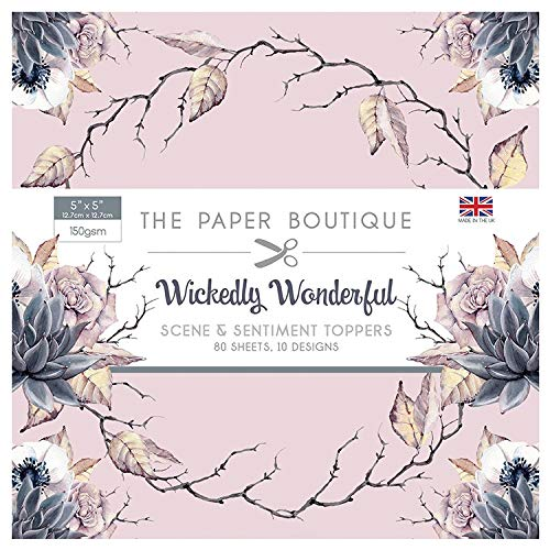 The Paper Boutique Wickedly Wonderful 5x5 Sentiments Pad
