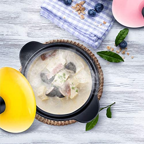 Pot à soupe en céramique marmite avec couvercle marmite marmite pots en argile Ménagère mini cocotte