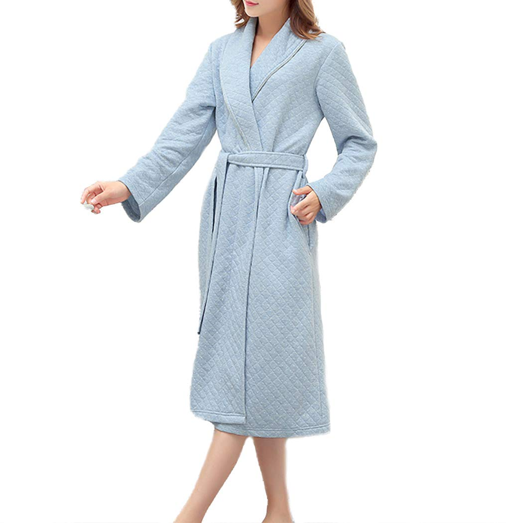 c92baaf9e2 Raylans Women s Soft Kimono Bathrobe Waffle Weave Knee-Length Hotel Spa Robe  at Amazon Women s Clothing store