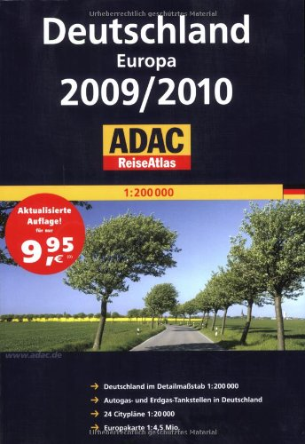 ADAC ReiseAtlas Deutschland Europa 2009 2010 1   200 000