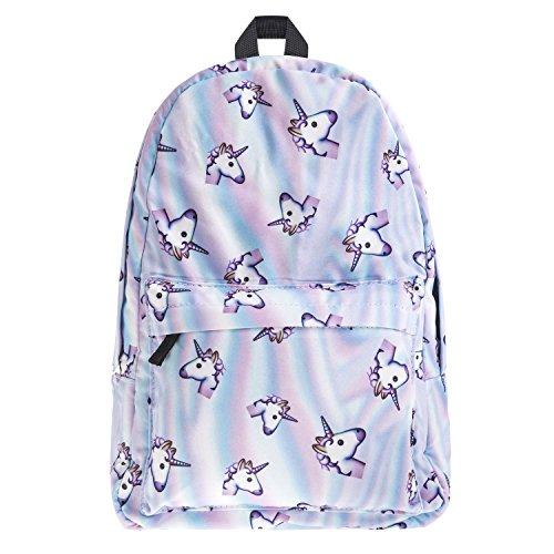 Women Backpacks,School Bookbags For Girls,College Daypacks Floral Unicorn