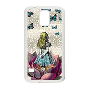 DAZHAHUI Butterflies lovely girl Cell Phone Case for Samsung Galaxy S5