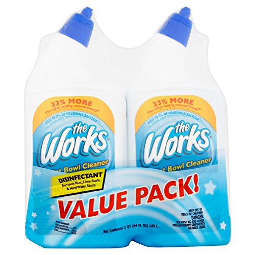 The Works Disinfectant Toilet Bowl Cleaner Value Pack 64 fl oz (2)