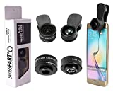 Cell Phone Camera Telephoto Lens Kit 3 in 1 + Two Universal Clip On adapter 180° Fisheye 15x Macro 0.36x Super Wide For iphone Samsung Galaxy Smartphones