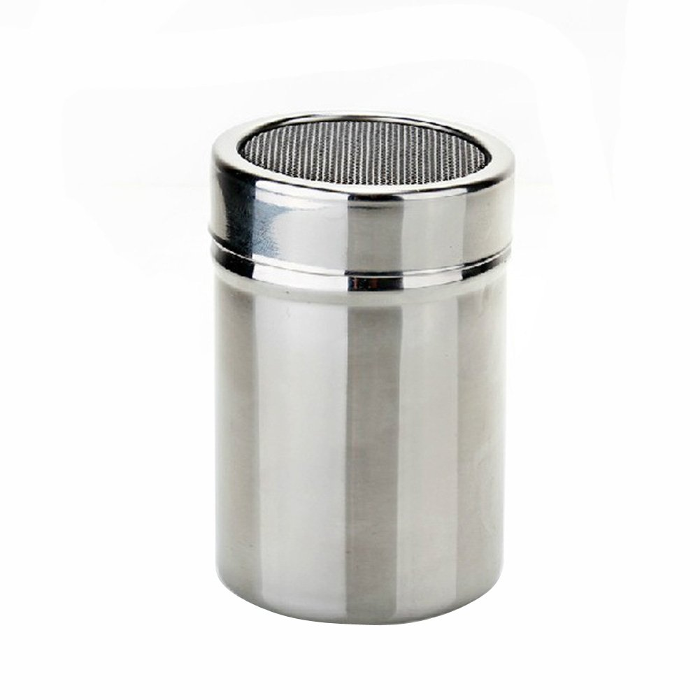 Stainless Steel Powder Dusting Sifter Coffee Shaker Cocoa Flour Icing Sugar with Chocolate Sifter Lid