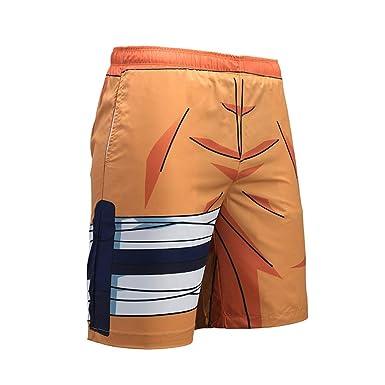f3e80e9803 Skyyeox Men's Drawstring Elastic Beach Board Quick Dry Slim Fit Mesh Lining Swim  Trunks Naruto 01