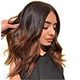 Short Body Wave Wig Ombre 1B/30 Brazilian Remy Human Hair 360 Lace Frontal Wigs For Women With Baby Hair 150% Density Human Hair Wigs For Black Women. (8inch, 360 Lace Wig)