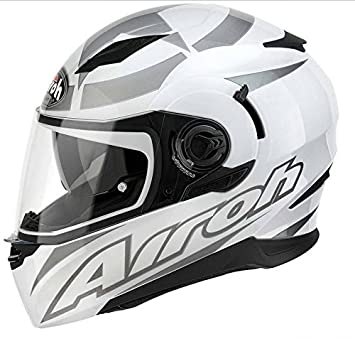 Casco integral moto Airoh Movement talla XS negra blanco gris brillante Neuf