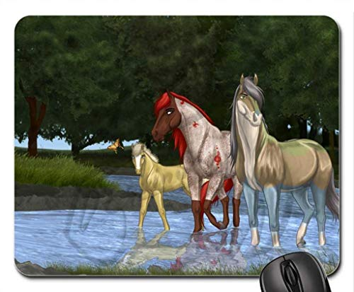 A Morning Outing Mouse Pad, Mousepad (Horses Mouse Pad) -