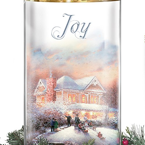 Thomas Kinkade Holiday Artwork Lighted Centerpiece with Flameless Candles by The Bradford Exchange by Bradford Exchange (Image #2)
