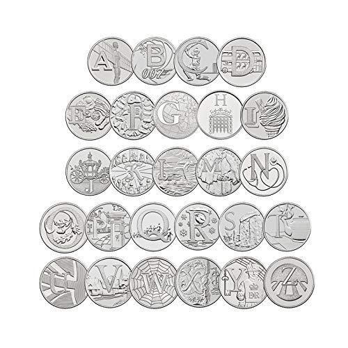 TGBCH Personalisierter 5 Buchstabe Jungen Namen 10 Stück Briefe 2019 Silber Beweis (Jonah ) B07PZK8QZG | Gutes Design