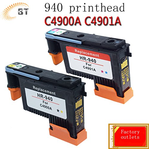 BT Industrial® Highest quality 940 PrintHead Replacement For HP Officejet Pro 8000 8500 8500A 8500A Plus 8500A Premium (2PK 940)