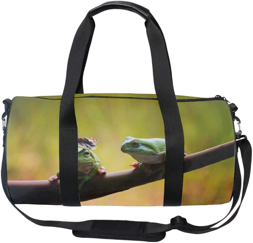 Gym Sports Small Duffel Bag for Men and Women with Shoes Compartment Flying Owl/_