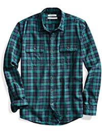 Men's Standard-Fit Plaid Twill Shirt