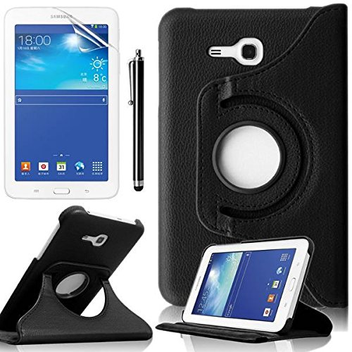 outlet store 5aca0 4fd35 Samsung Tab 3 Lite 7 Case,Samsung T110 Case,Beebiz Black 360 Degrees  Rotating PU Leather Smart Shell Cover for 7 inch Samsung Galaxy Tab 3 Lite  Tablet ...