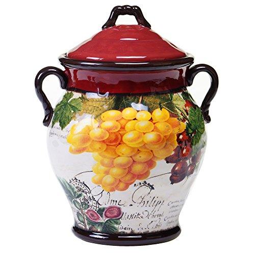 (Certified International Botanical Fruit Biscotti Jar, 10.5-Inch,)