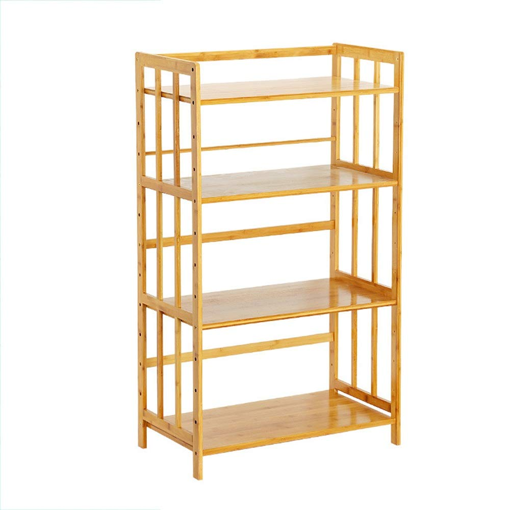 Kitchen Shelf Organizer 4 Tier Storage Shelf Kitchen Wood Oven Microwave Rack Shelving Unit Multifunction Open Shelves Kitchen Utensill (Color : Natural, Size : 118X70X38CM) by Han cheng he