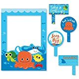 Under The Sea Critters - Birthday Party or Baby Shower Selfie Photo Booth Picture Frame & Props - Printed on Sturdy Material