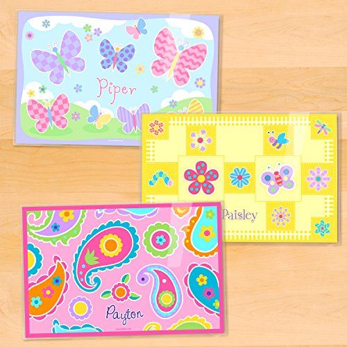Olive Kids Flowers Personalized Placemat 3 Pack ()