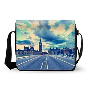 Beautiful Bridge Of London England Oxford Fabric Messenger Bag,Shoulder Bag