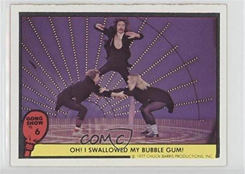 Fleer Bubble Gum (OhQ I swallowed my bubble gum! (Trading Card) 1977 Fleer Gong Show - [Base] #6)