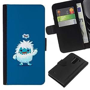 NEECELL GIFT forCITY // Billetera de cuero Caso Cubierta de protección Carcasa / Leather Wallet Case for LG G3 // Lindo Jeti