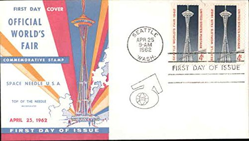 Official World's Fair Block of Stamps Original First Day Cover (Block Worlds Fair)