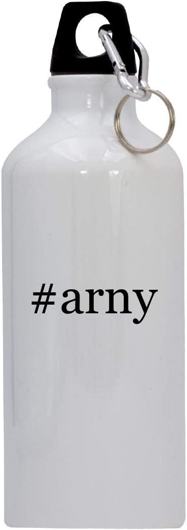 #arny - 20oz Hashtag Stainless Steel Water Bottle with Carabiner, White