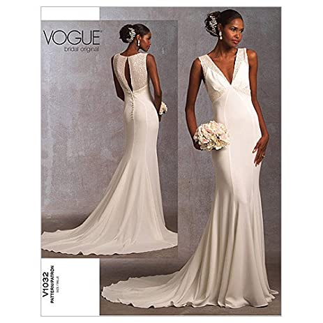 Vogue Pattern 1032 Misses Wedding Dress Size 6 8 10