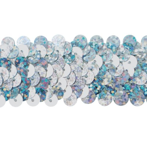 Expo International 3-Row 1-1/4-Inch Starlight Hologram Stretch Sequin Trim, 20-Yard ()