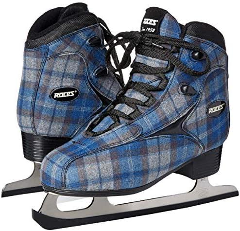 Roces Women's Logger Ice Skates Superior Italian Navy/Gray Plaid 450647 00001