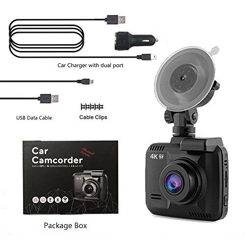 dash cam 4k car camera dvr recorder built in wifi and gps. Black Bedroom Furniture Sets. Home Design Ideas