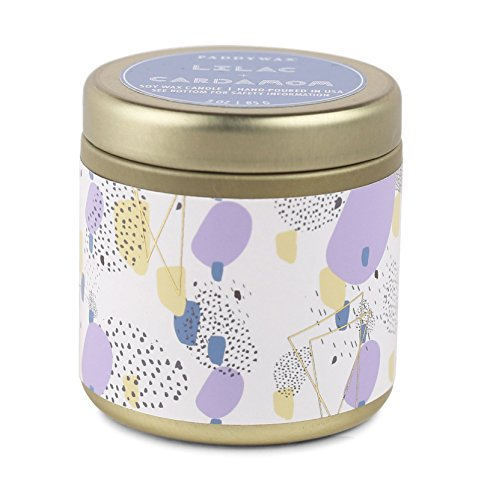 (Paddywax Candles Kaleidoscope Collection Scented Soy Wax Travel Tin Candle, 3 oz, Lilac and Cardamom)